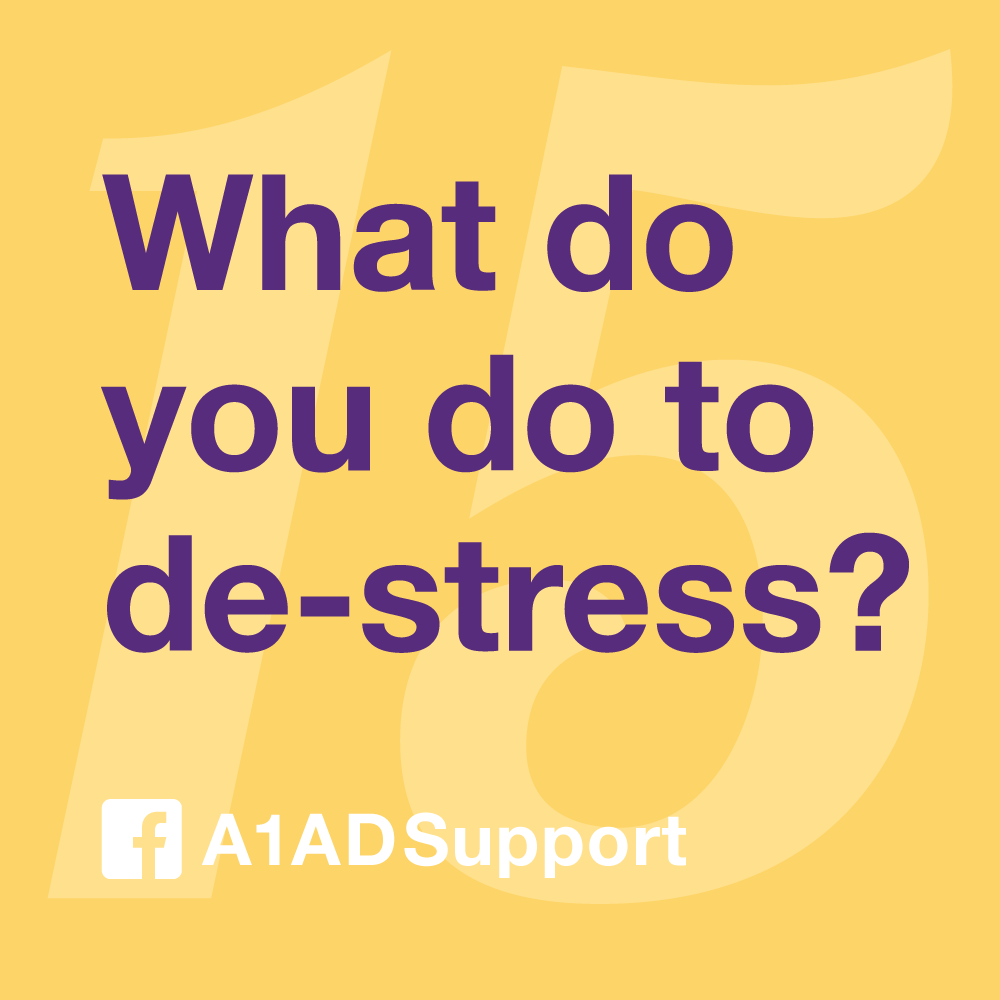 What do you do to de-stress?