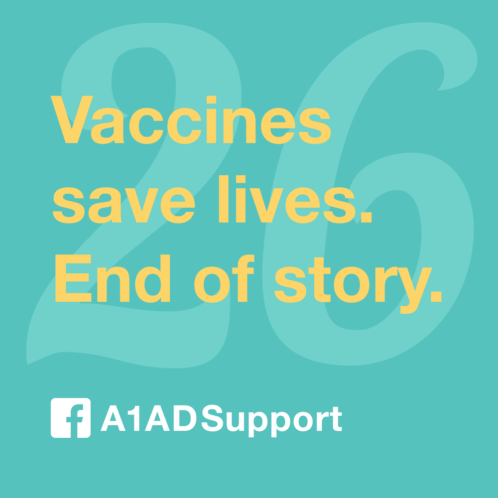 Vaccines save lives. End of story.