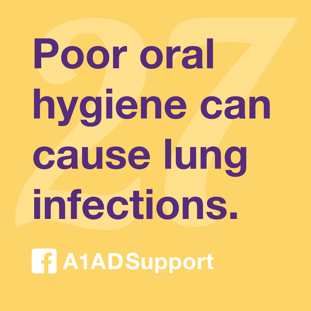 Poor oral hygiene can cause lung infections.