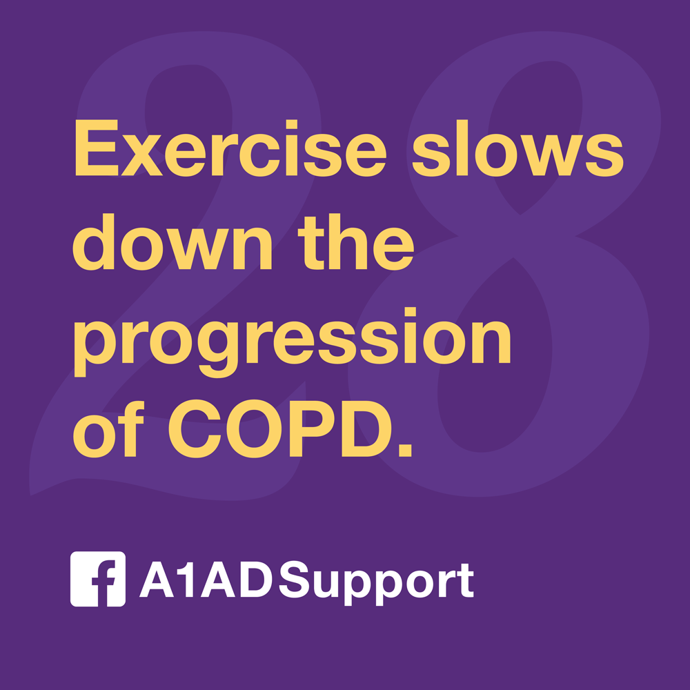 Exercise slows down the progression of COPD.