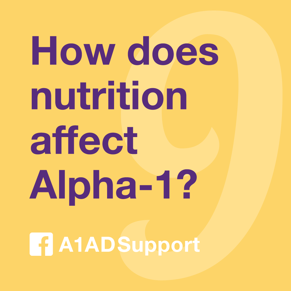 How does nutrition affect Alpha-1?